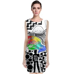 Panic ! At The Disco Sleeveless Velvet Midi Dress