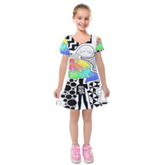 Panic ! At The Disco Kids  Short Sleeve Velvet Dress