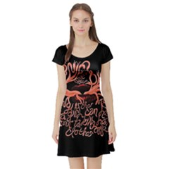 Panic At The Disco   Lying Is The Most Fun A Girl Have Without Taking Her Clothes Short Sleeve Skater Dress