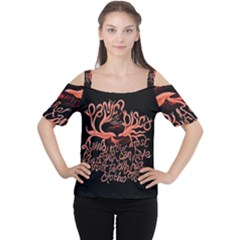 Panic At The Disco   Lying Is The Most Fun A Girl Have Without Taking Her Clothes Women s Cutout Shoulder Tee