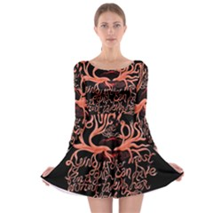 Panic At The Disco   Lying Is The Most Fun A Girl Have Without Taking Her Clothes Long Sleeve Skater Dress