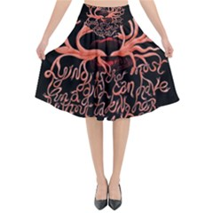 Panic At The Disco   Lying Is The Most Fun A Girl Have Without Taking Her Clothes Flared Midi Skirt