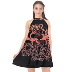 Panic At The Disco   Lying Is The Most Fun A Girl Have Without Taking Her Clothes Halter Neckline Chiffon Dress