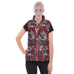 Panic At The Disco Poster Women s Button Up Puffer Vest