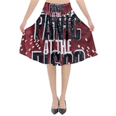 Panic At The Disco Poster Flared Midi Skirt