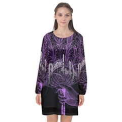 Panic At The Disco Long Sleeve Chiffon Shift Dress