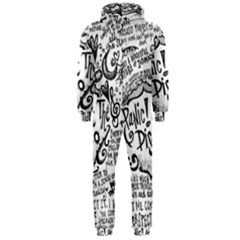 Panic! At The Disco Lyric Quotes Hooded Jumpsuit (Men)