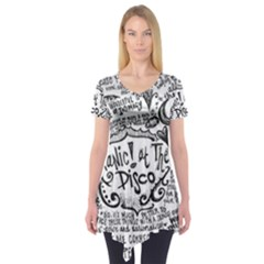 Panic! At The Disco Lyric Quotes Short Sleeve Tunic