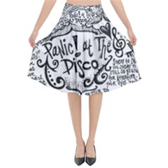 Panic! At The Disco Lyric Quotes Flared Midi Skirt