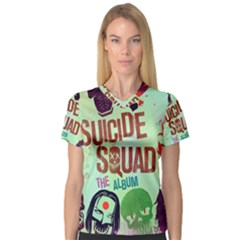Panic! At The Disco Suicide Squad The Album Women s V-Neck Sport Mesh Tee