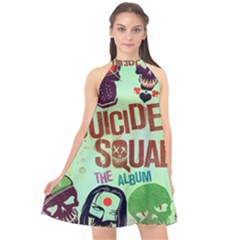 Panic! At The Disco Suicide Squad The Album Halter Neckline Chiffon Dress