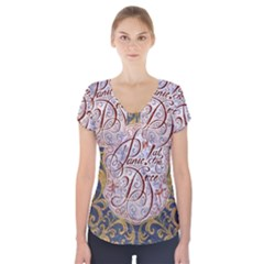 Panic! At The Disco Short Sleeve Front Detail Top