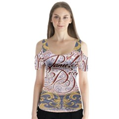 Panic! At The Disco Butterfly Sleeve Cutout Tee
