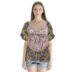 Panic! At The Disco Flutter Sleeve Top
