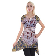 Panic! At The Disco Short Sleeve Side Drop Tunic
