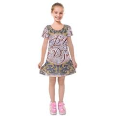 Panic! At The Disco Kids  Short Sleeve Velvet Dress