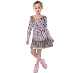 Panic! At The Disco Kids  Long Sleeve Velvet Dress