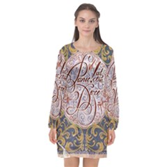 Panic! At The Disco Long Sleeve Chiffon Shift Dress