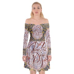 Panic! At The Disco Off Shoulder Skater Dress