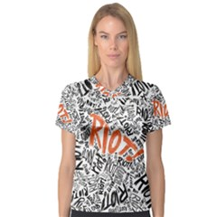 Paramore Is An American Rock Band Women s V Neck Sport Mesh Tee