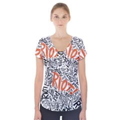Paramore Is An American Rock Band Short Sleeve Front Detail Top
