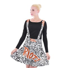 Paramore Is An American Rock Band Suspender Skater Skirt