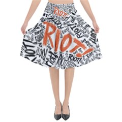 Paramore Is An American Rock Band Flared Midi Skirt