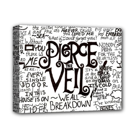 Pierce The Veil Music Band Group Fabric Art Cloth Poster Deluxe Canvas 14  X 11
