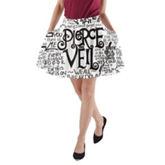 Pierce The Veil Music Band Group Fabric Art Cloth Poster A Line Pocket Skirt