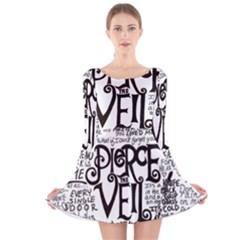 Pierce The Veil Music Band Group Fabric Art Cloth Poster Long Sleeve Velvet Skater Dress