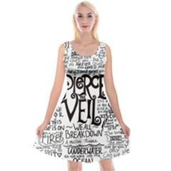 Pierce The Veil Music Band Group Fabric Art Cloth Poster Reversible Velvet Sleeveless Dress
