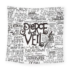 Pierce The Veil Music Band Group Fabric Art Cloth Poster Square Tapestry (Large)