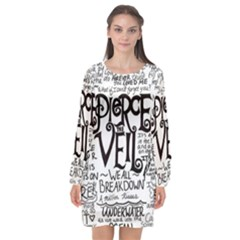 Pierce The Veil Music Band Group Fabric Art Cloth Poster Long Sleeve Chiffon Shift Dress