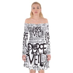 Pierce The Veil Music Band Group Fabric Art Cloth Poster Off Shoulder Skater Dress