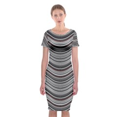 Abstraction Classic Short Sleeve Midi Dress