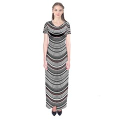 Abstraction Short Sleeve Maxi Dress