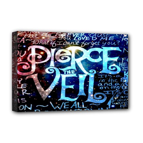 Pierce The Veil Quote Galaxy Nebula Deluxe Canvas 18  x 12