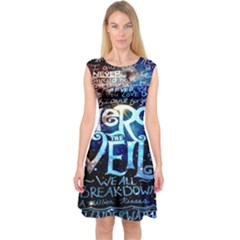 Pierce The Veil Quote Galaxy Nebula Capsleeve Midi Dress