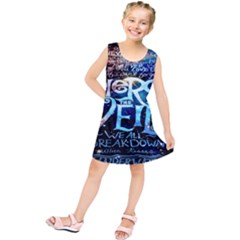 Pierce The Veil Quote Galaxy Nebula Kids  Tunic Dress