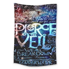 Pierce The Veil Quote Galaxy Nebula Large Tapestry