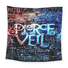 Pierce The Veil Quote Galaxy Nebula Square Tapestry (Large)