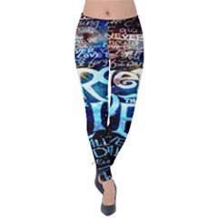 Pierce The Veil Quote Galaxy Nebula Velvet Leggings