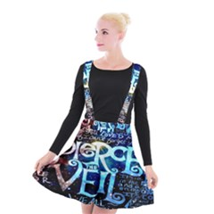 Pierce The Veil Quote Galaxy Nebula Suspender Skater Skirt