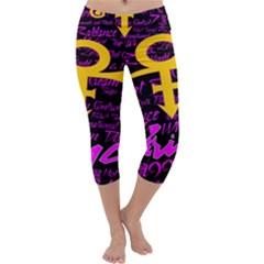 Prince Poster Capri Yoga Leggings