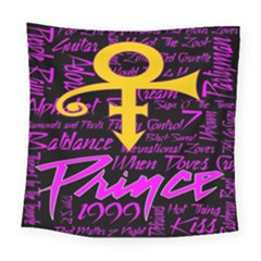 Prince Poster Square Tapestry (Large)