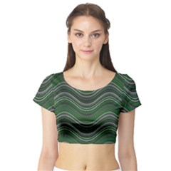Abstraction Short Sleeve Crop Top (Tight Fit)