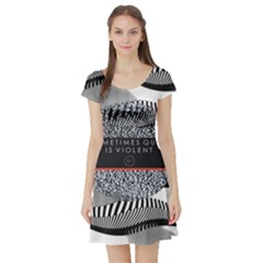 Sometimes Quiet Is Violent Twenty One Pilots The Meaning Of Blurryface Album Short Sleeve Skater Dress