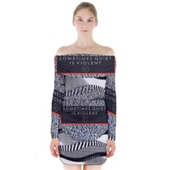 Sometimes Quiet Is Violent Twenty One Pilots The Meaning Of Blurryface Album Long Sleeve Off Shoulder Dress