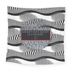 Sometimes Quiet Is Violent Twenty One Pilots The Meaning Of Blurryface Album Square Tapestry (Large)