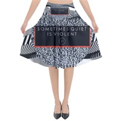 Sometimes Quiet Is Violent Twenty One Pilots The Meaning Of Blurryface Album Flared Midi Skirt